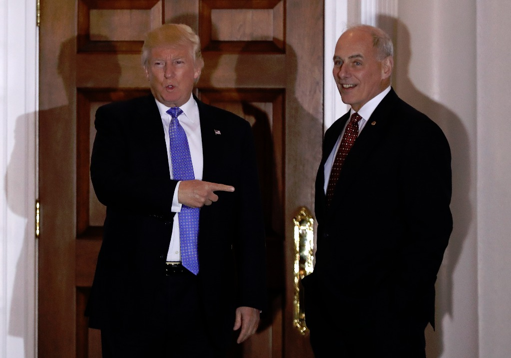 Trump nombra jefe de Gabinete a secretario de Seguridad, John Kelly