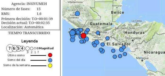 Temblor de más de 5 grados de magnitud alarma a guatemaltecos