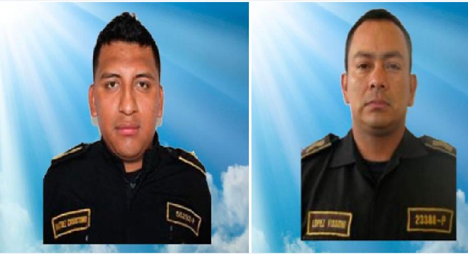 Agentes de la PNC fallecidos