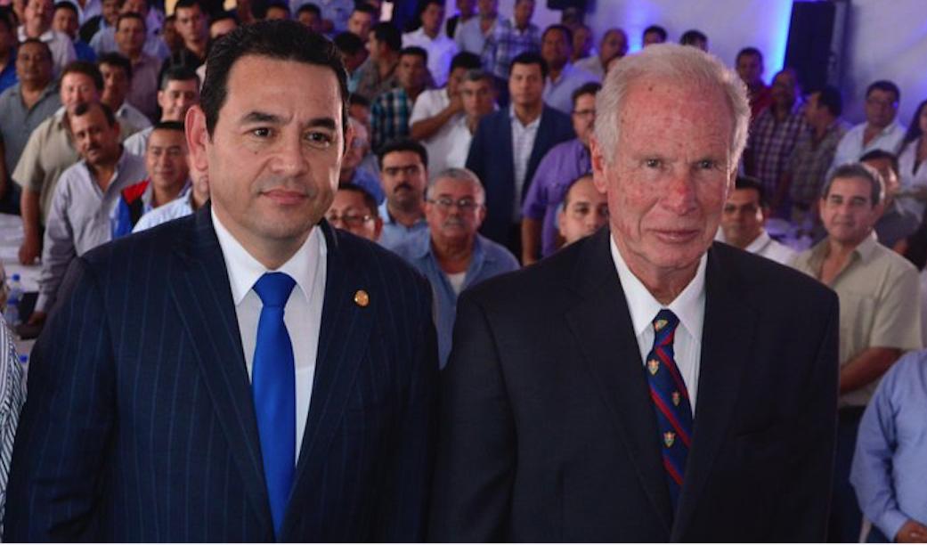 Álvaro Arzú y Jimmy Morales