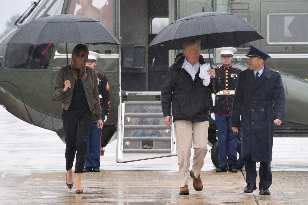 Donald Trump vista Texas bajo la amenaza de nuevas lluvias por Harvey