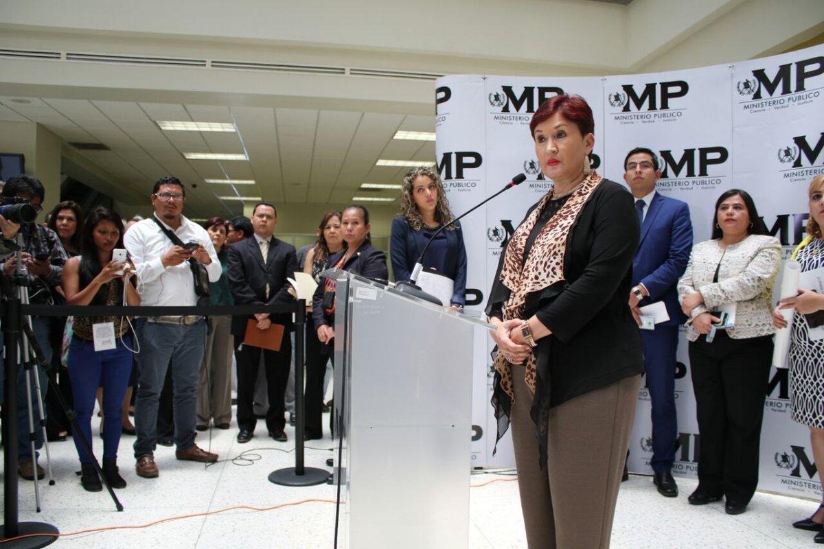 Jefa del MP, Thelma Aldana