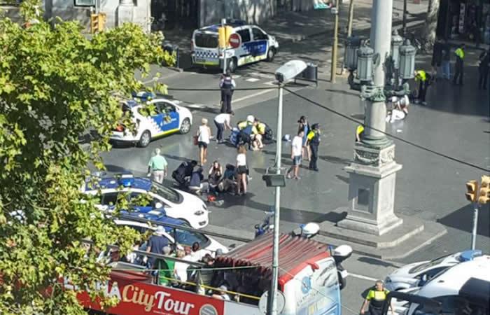 Dos muertos y 20 heridos en el atentado en Barcelona