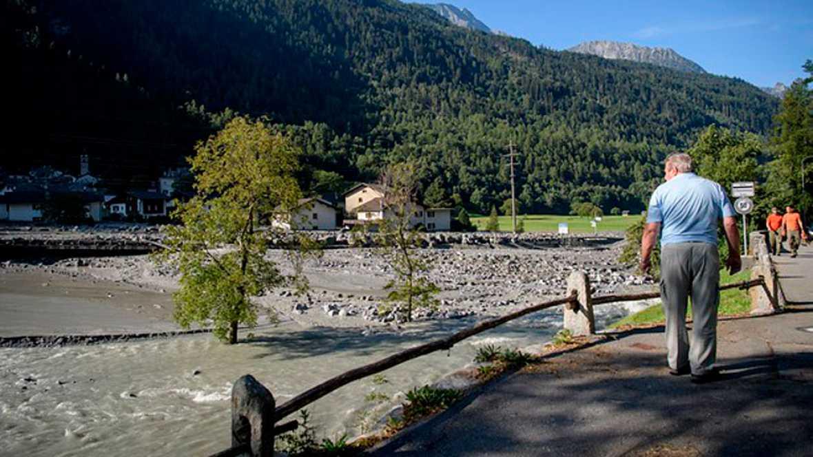Hasta 14 desaparecidos por un alud en los Alpes suizos