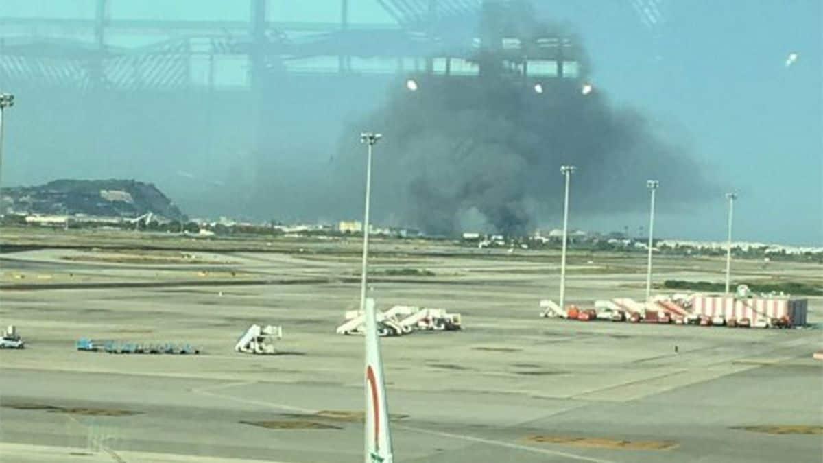 Reportan incendio en el aeropuerto de Barcelona