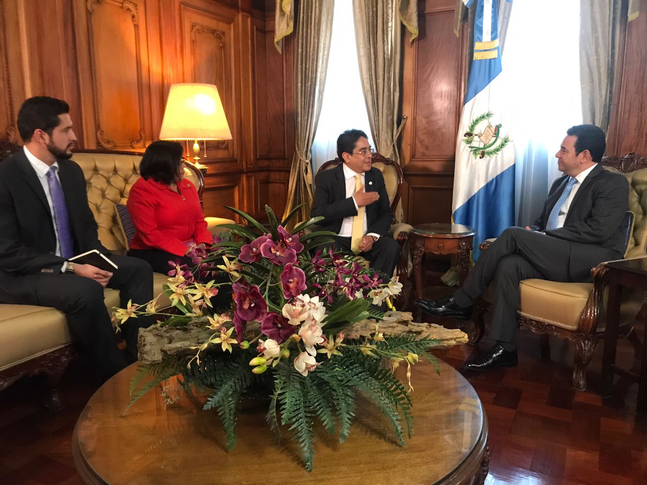 PDH y presidente Jimmy Morales