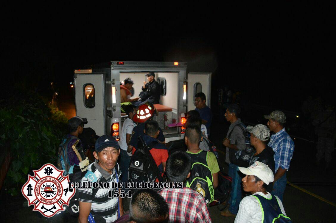 Dos accidentes de tránsito dejan 24 heridos en Alta Verapaz y San Marcos