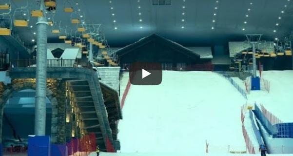 Sala de esquí en China