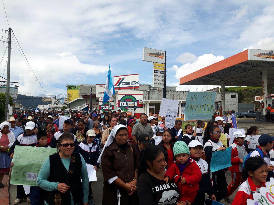 San Marcos protesta contra la impunidad y corrupción