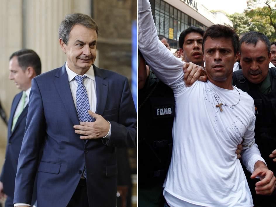 Rodríguez Zapatero visitó en Venezuela al líder opositor Leopoldo López