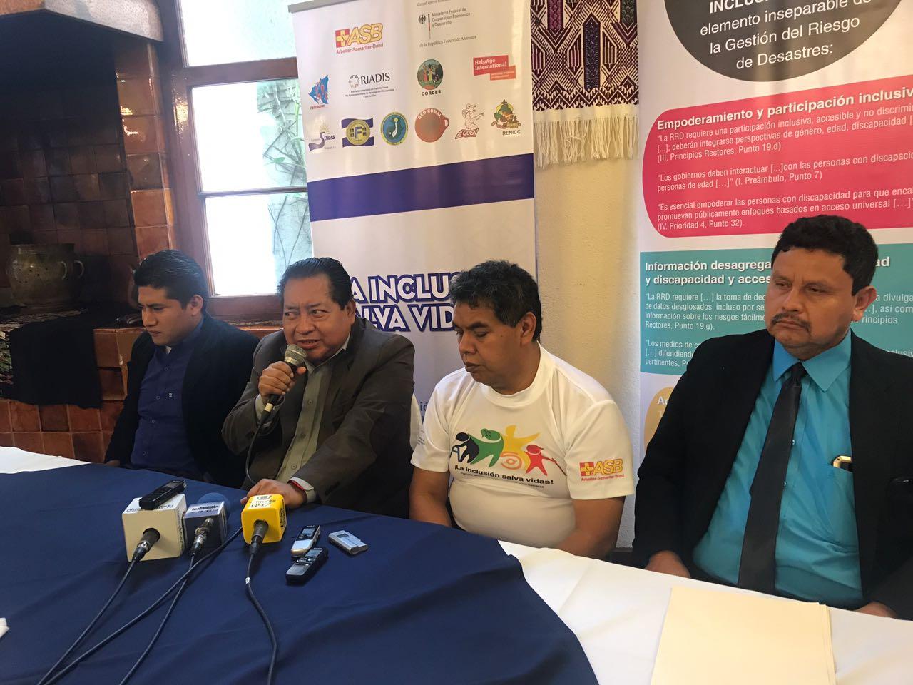 Asociación busca inclusión de ciegos y adultos en gestión de riesgos ante desastres