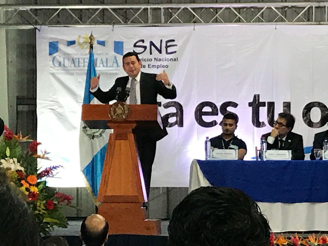 Presidente Jimmy Morales habla sobre justicia