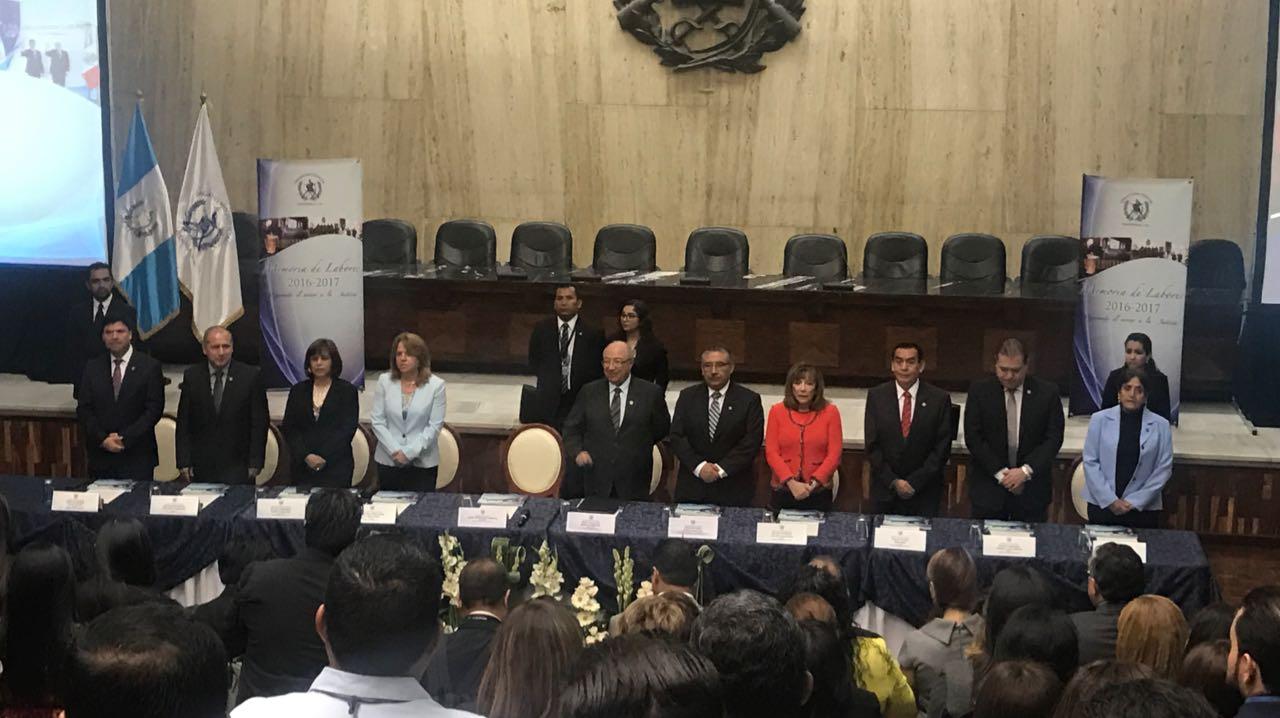 Informe de labores del presidente saliente del Organismo Judicial