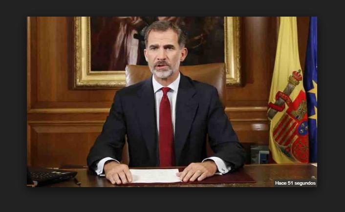 El Rey de España advierte que el Estado debe asegurar el orden constitucional