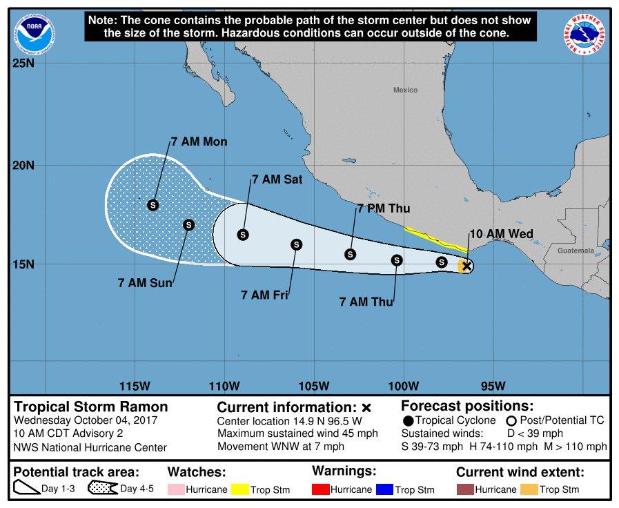 """Tormenta """"Ramón"""" y depresión tropical"""