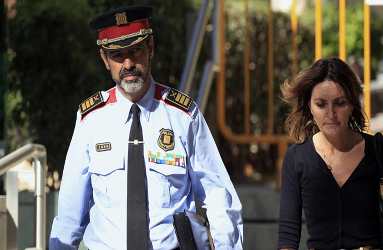 Jefe de la policía de Cataluña llega a declarar a tribunal en Madrid