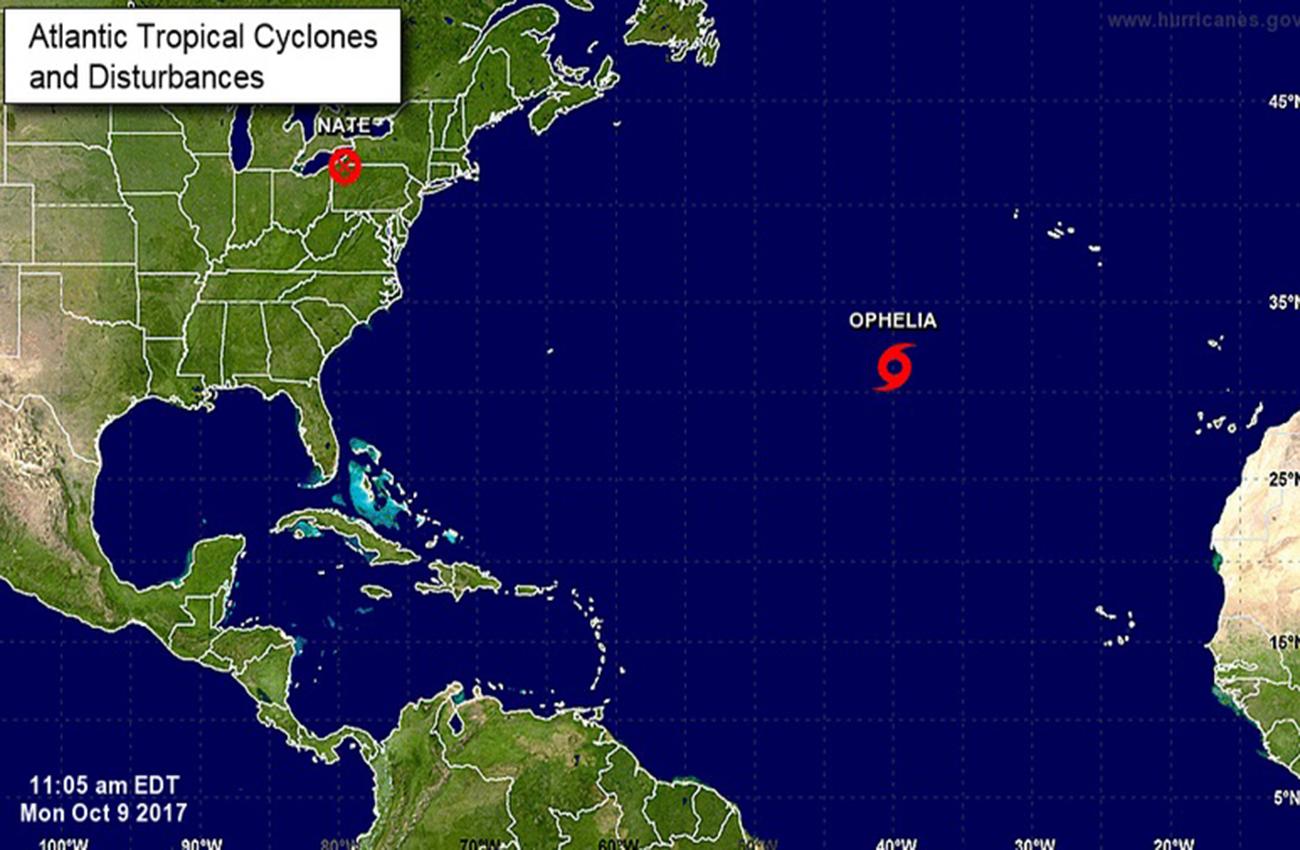 Tormenta tropical Ophelia se forma en el Atlántico