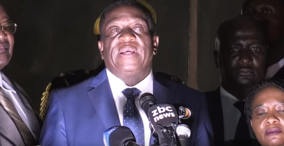 Presidente de Zimbabue Emmerson Mnangagwa
