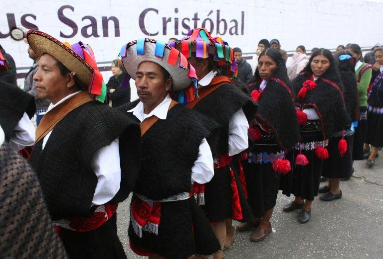 Indígenas mexicanos éxodo