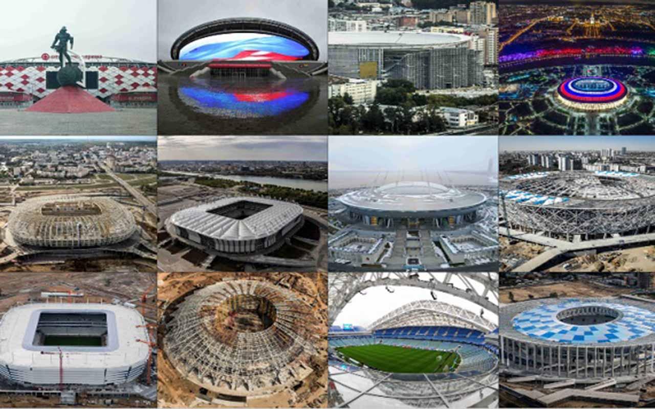 Los estadios del Mundial2018 en Rusia