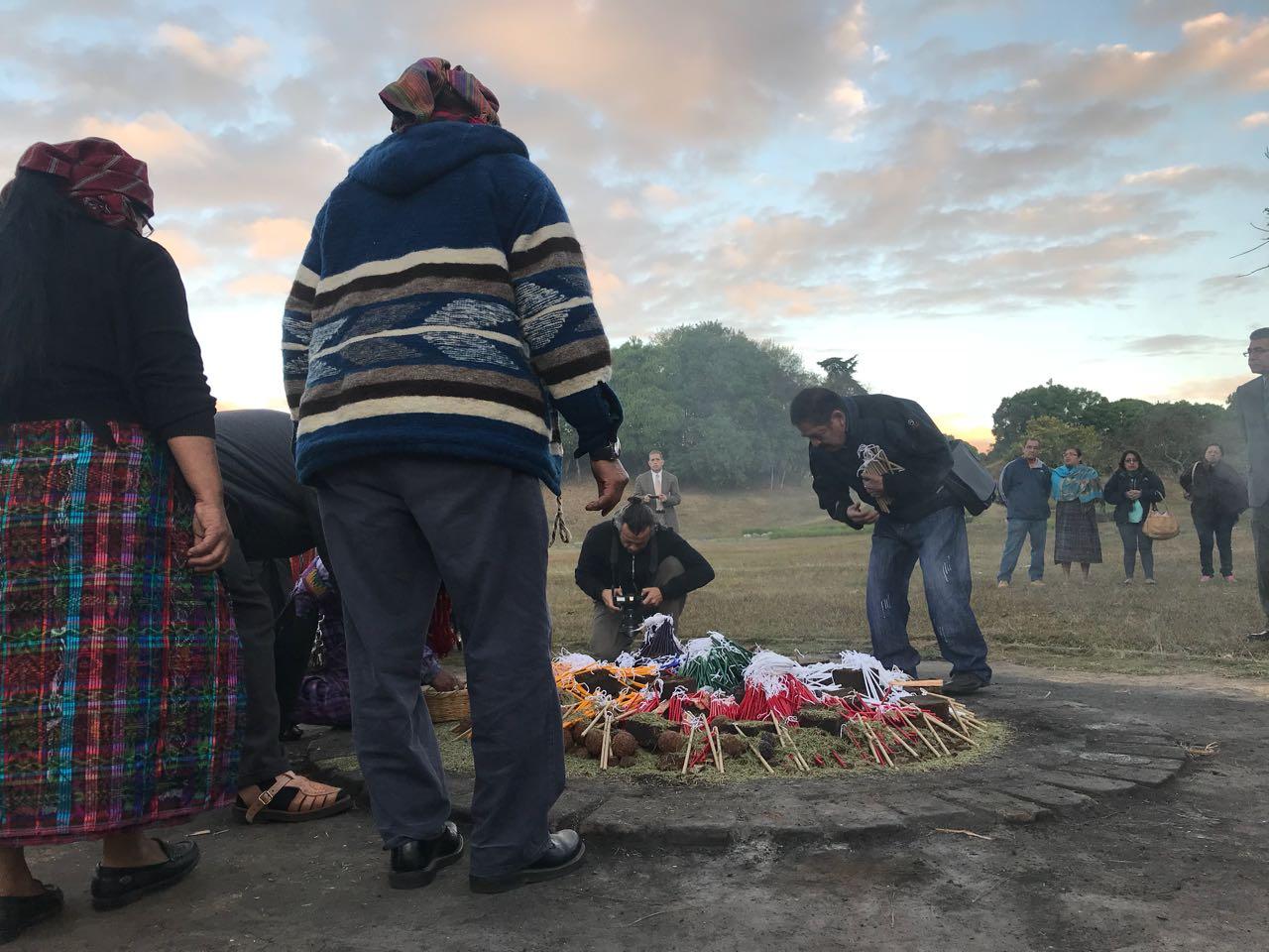 Ceremonia maya Acuerdos de Paz
