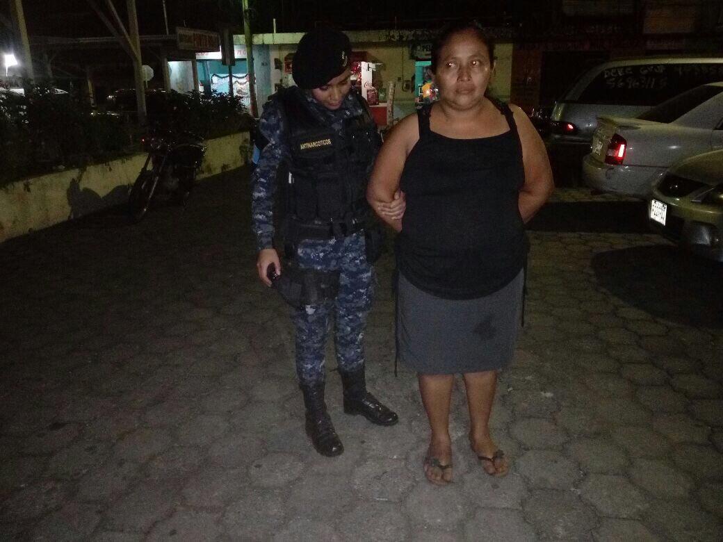 Mujer capturada en Coatepeque Emisoras Unidas EU Guatemala