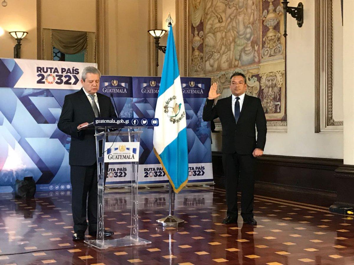 Juramentaciones en el Ejecutivo EU Emisoras Unidas Guatemala