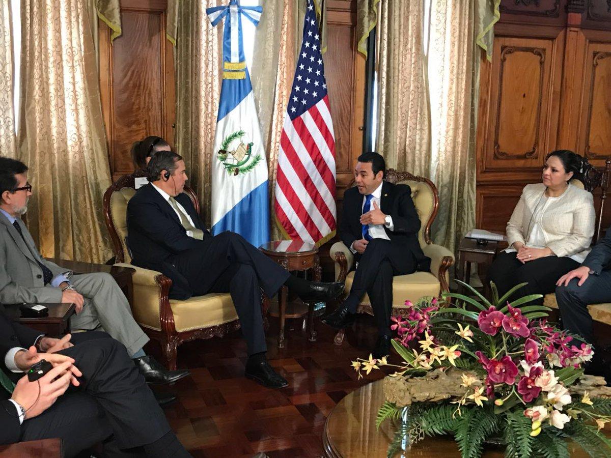 Reunión de Jimmy Morales EU Emisoras Unidas Guatemala