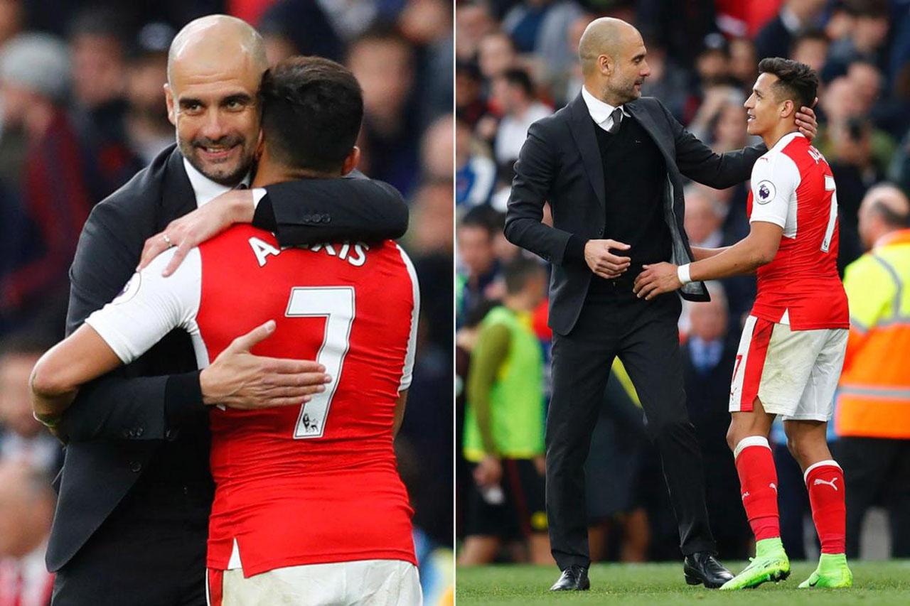 Guardiola no le guarda rencor a Alexis Sánchez por preferir al United