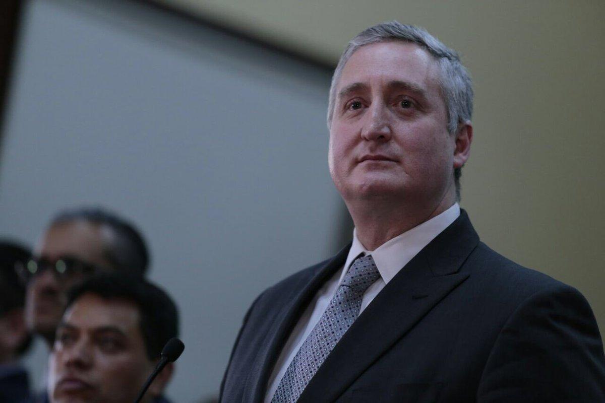 Ministro de Gobernación Enrique Degenhart EU Emisoras Unidas Guatemala