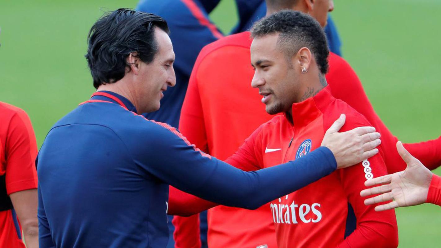 """Neymar volverá el sábado """"si todo va bien"""" en el entrenamiento, dice Emery"""