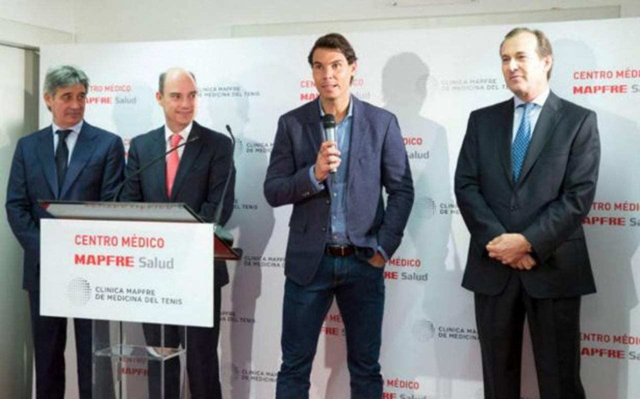 Rafa Nadal inaugura una clínica especializada en Madrid