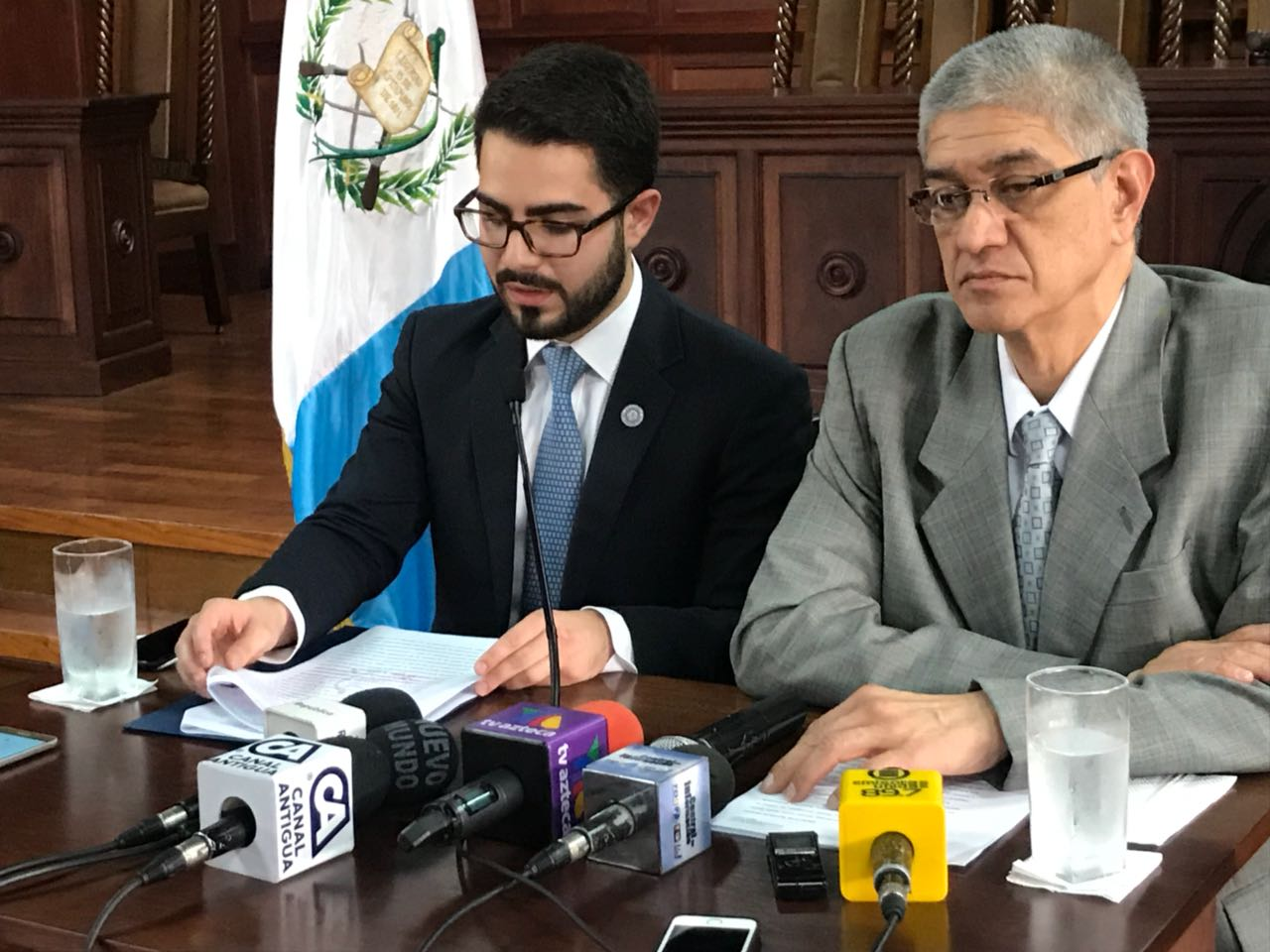 Conferencia de prensa de la CC EU Emisoras Unidas Guatemala