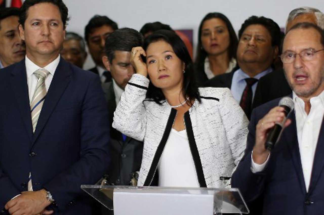 Keiko Fujimori pierde un nuevo congresista y se queda con 59 en su bancada