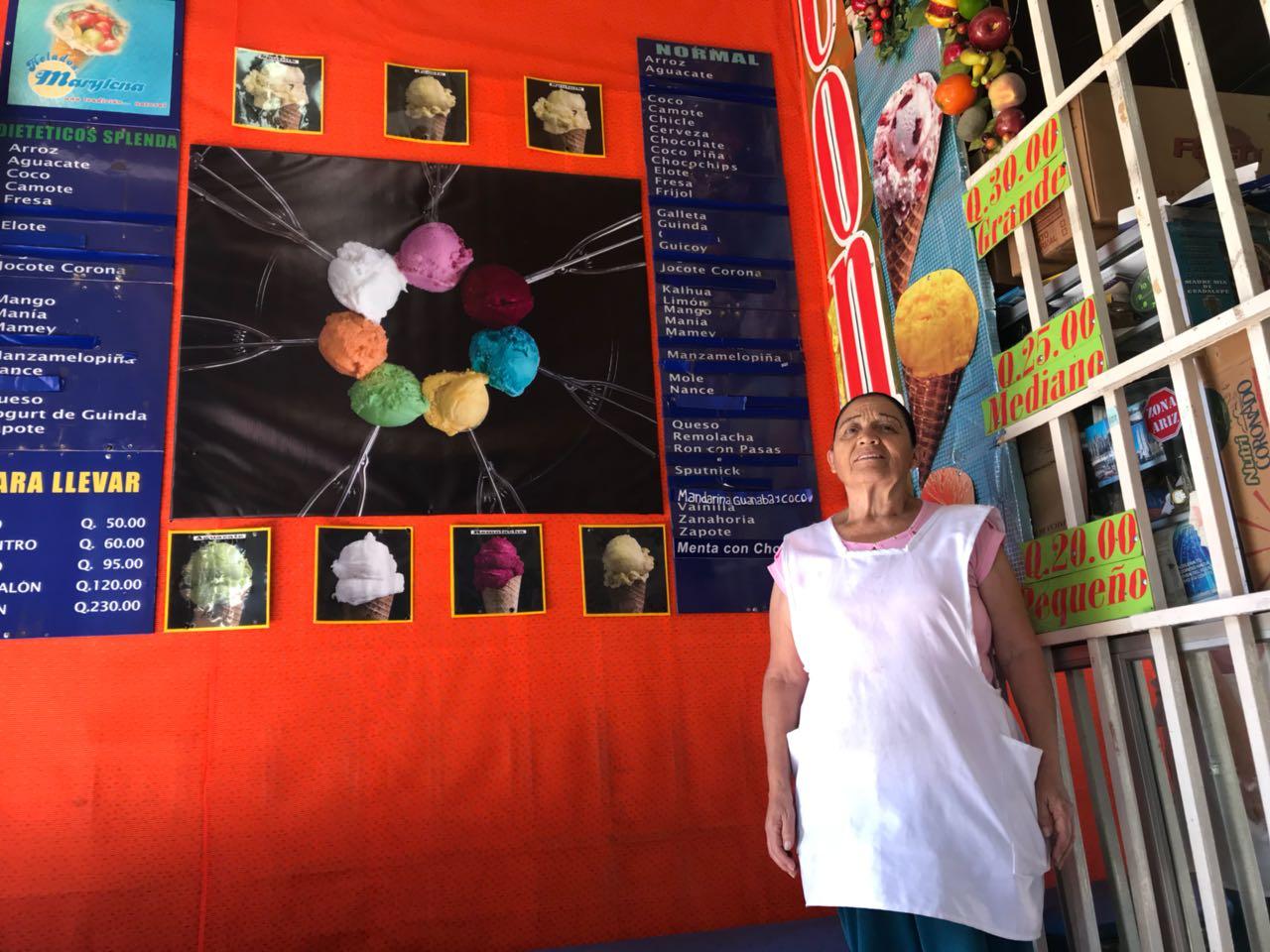 Venta de helados, Emisoras Unidas, Guatemala, EU