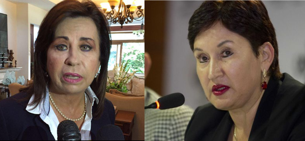 Sandra Torres y Thelma Aldana