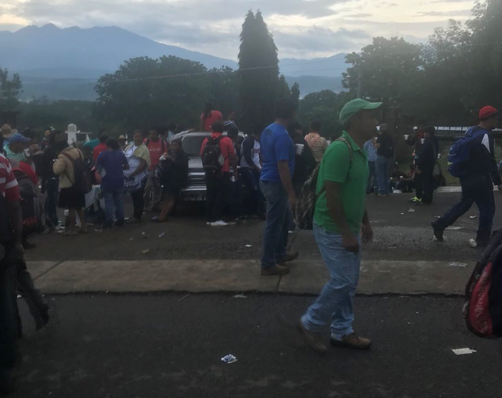 Bloqueo en Coatepeque