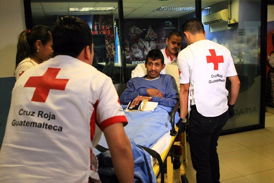 Paciente trasladado de México a Guatemala