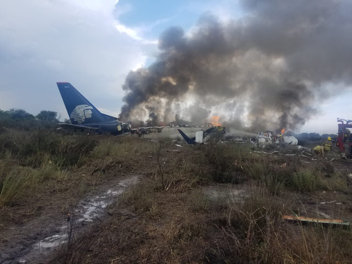 Avión accidentado en Durango