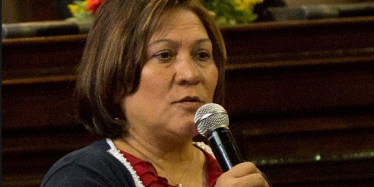 Exdiputada Mirza Arreaga.