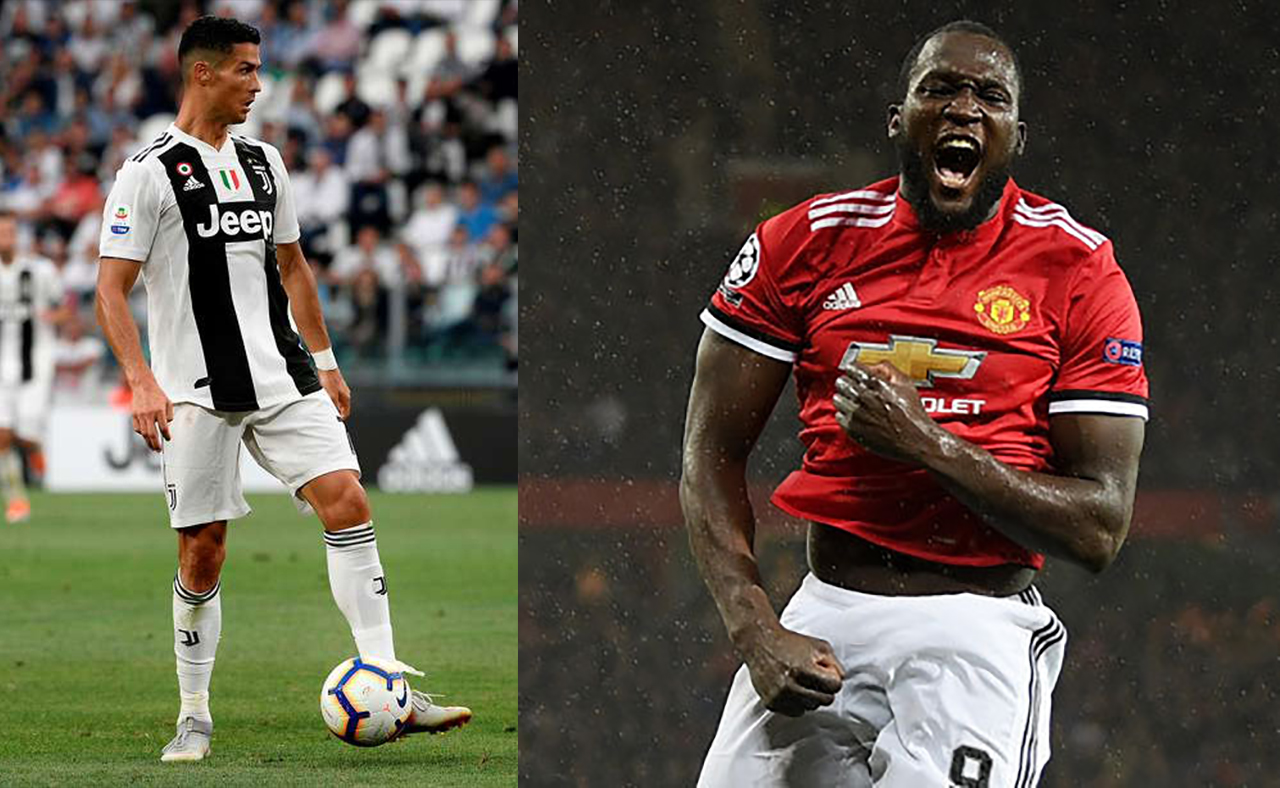 Juventus de Turín, Cristiano Ronaldo, Manchester United Romelu Lukaku UEFA Champions League Emisoras Unidas