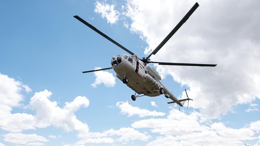Helicóptero accidentado en Rusia