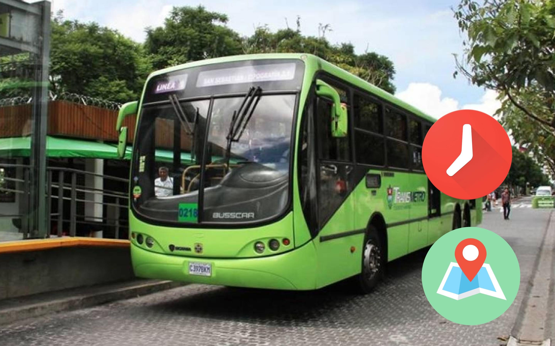 transmetro lineas rutas horarios ciudad guatemala tu muni