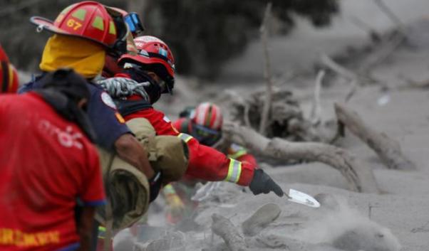 Volcán de Fuego y número de muertos