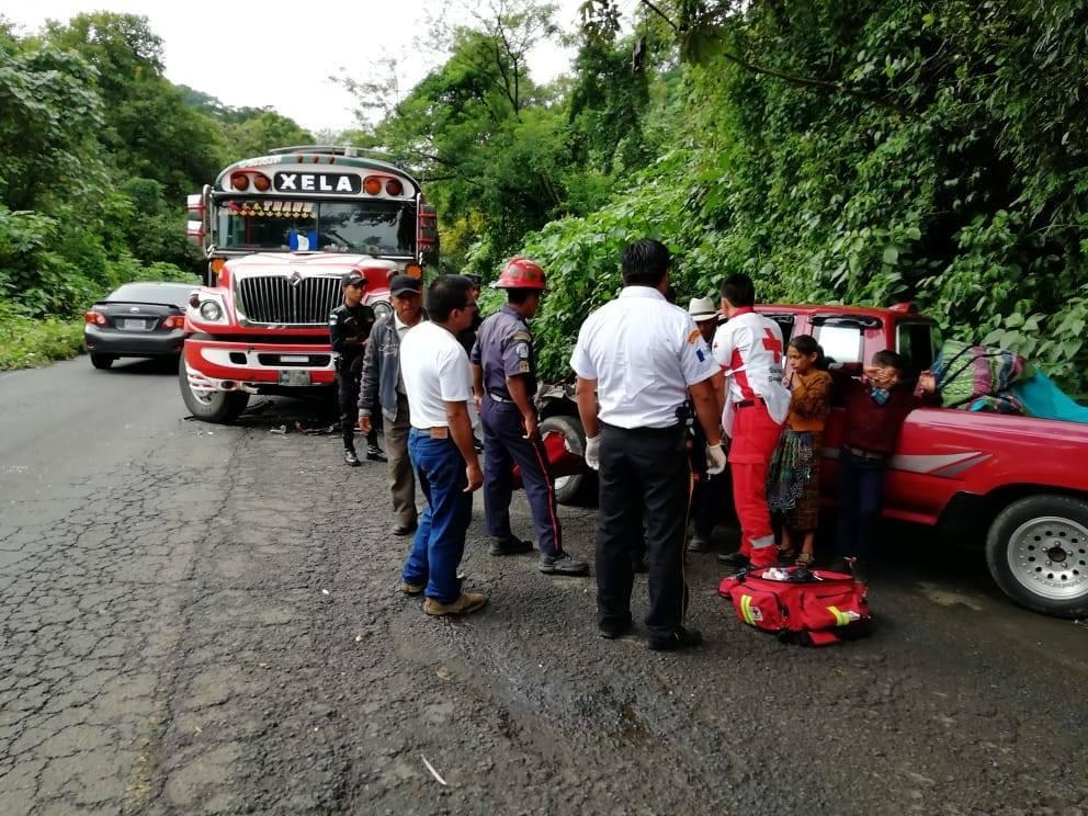 Accidente de bus Quetzaltenango Retalhuleu El Palmar Emisoras Unidas