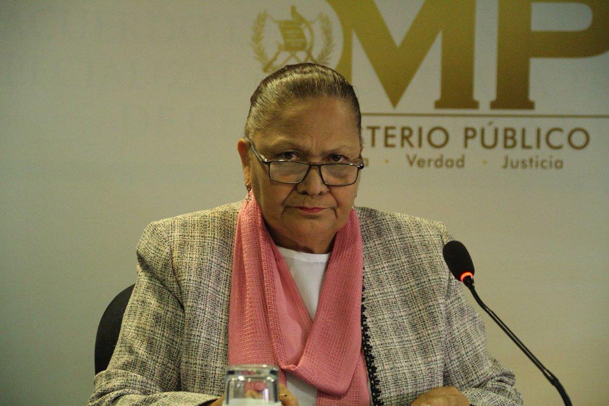Fiscal General apoyo Sandra Torres