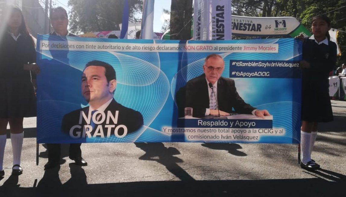Manifestación en Quetzaltenango