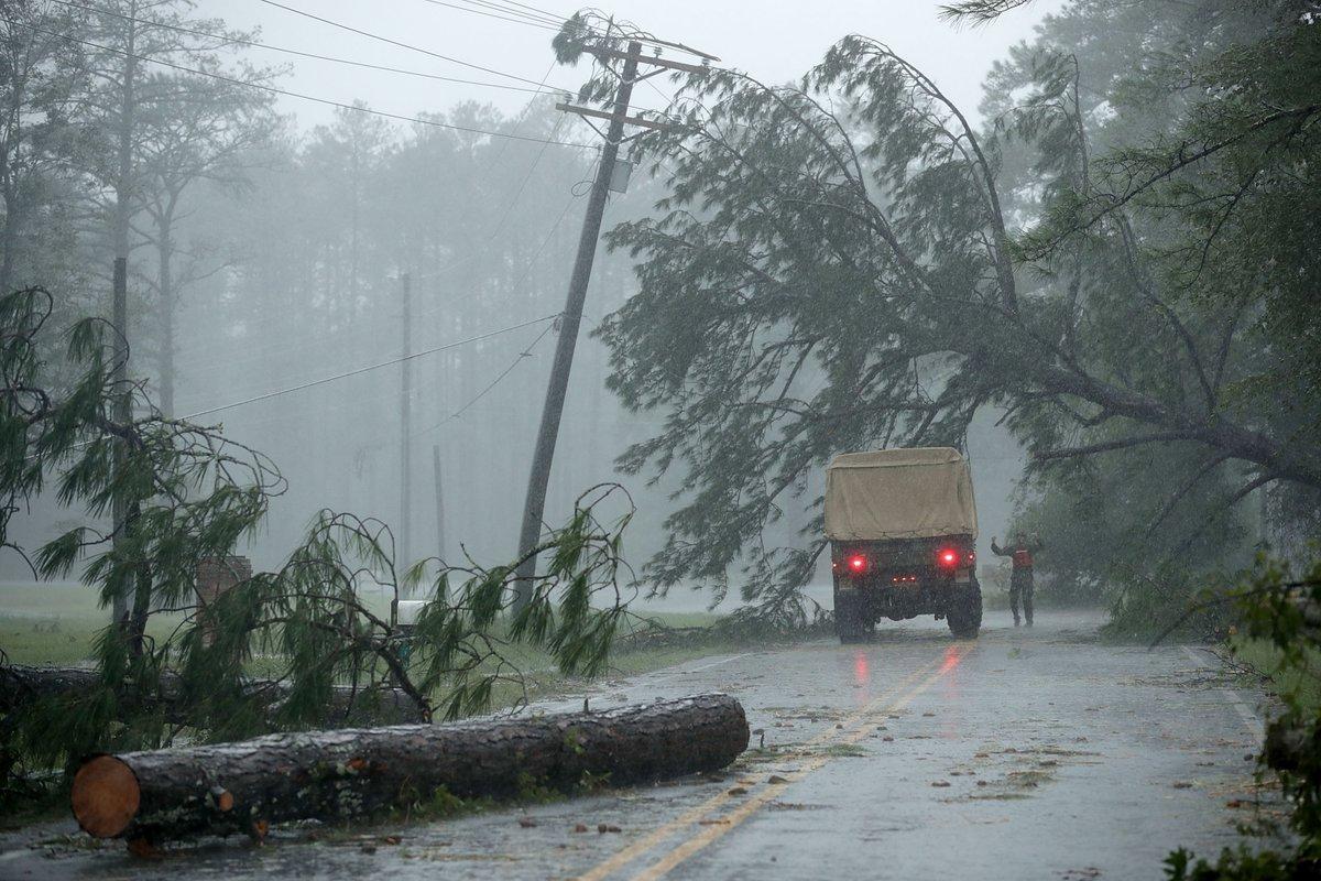 Huracán Florence Carolina del Norte Estados Unidos
