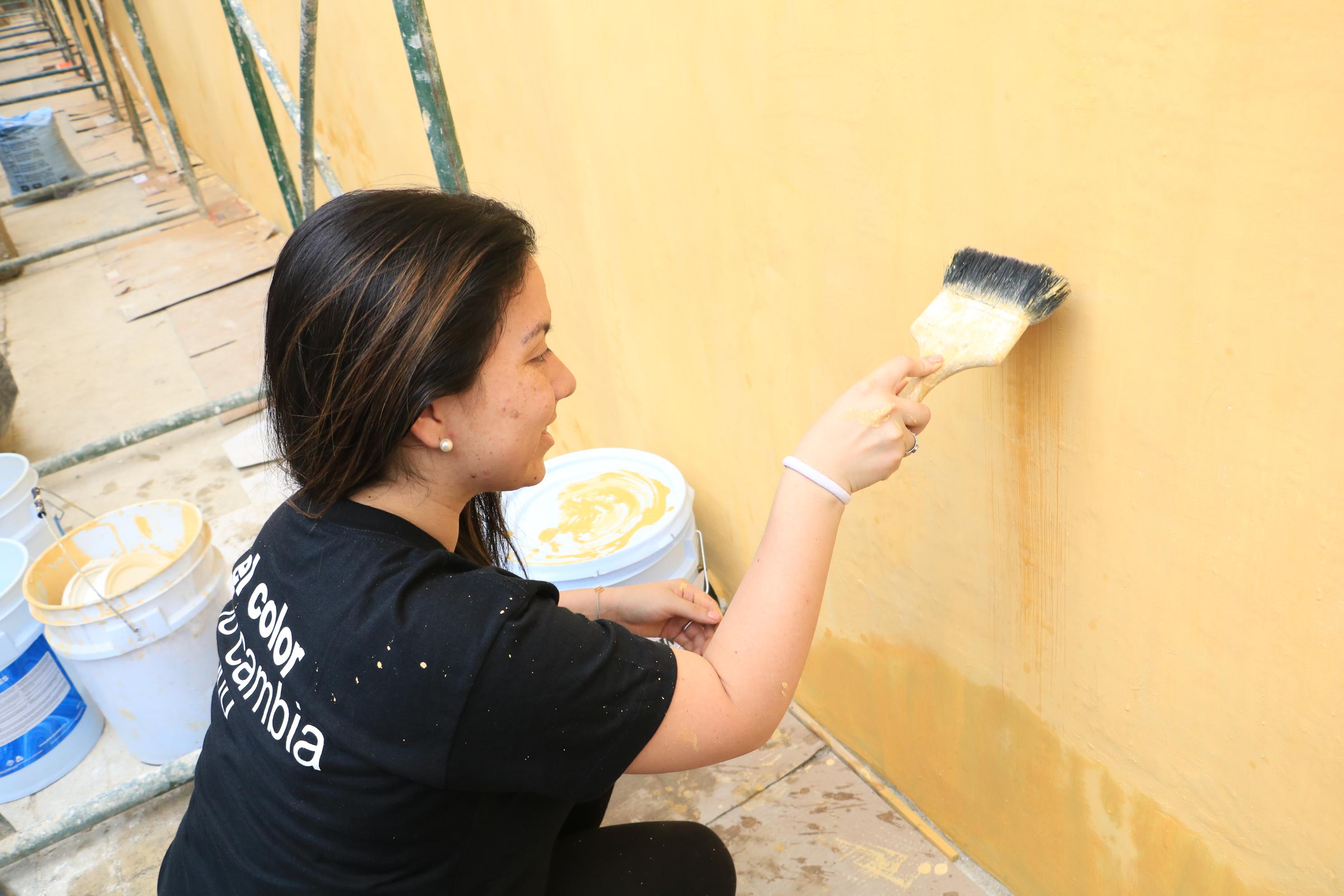 Pinturas Paleta ayuda a restaurar edificio de las Obras Sociales del Hermano Pedro