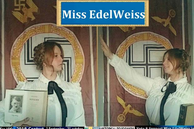 nazi miss hitler concurso de belleza